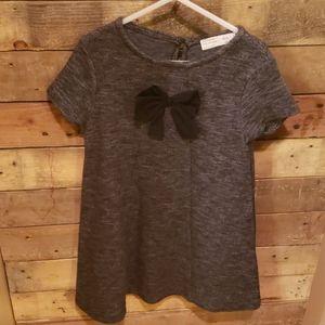 Zara girls dress size 7 graphite grey